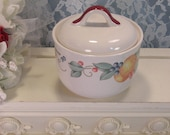 Corelle Coordinates Abundance Dinnerware Covered Sugar Bowl, Fruit Pattern, Vintage Kitchen, Jay Imports Corning Ware, Vintage Dinnerware