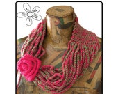 Cowl Chain Scarf Crochet Pattern (English terminology)