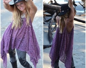 Music festival lace tunic top, Young and famous Bohemian Mexicali beach ,Boho clothes, Stevie Nicks style Gypsy chic, True rebel clothing