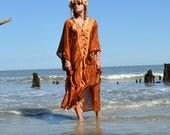 Bohemian Hippie Kaftan dress, Bohemian gypsy Stevie nicks style Music Day tripper festival clothing, Mexicali Boho True rebel clothing