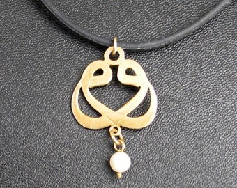 Jewelry Rescue  Goldtone  Pearl Pendant