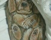 Custom painted Rock, per portrait