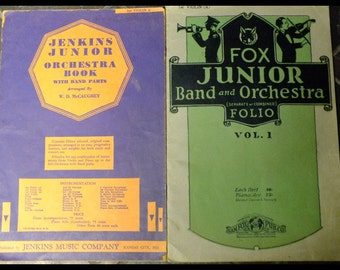 2 Vintage Fox Junior & Jenkins Junior Orchestra Books 1st Violin (A)