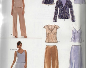 New Look Ladies Dressy Pant  Outfit Sewing Pattern 6558