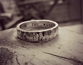 BARK - woodland inspired ring, suitable for men or women, a totally unique wedding band, personalised with your words. UK designer jewellery