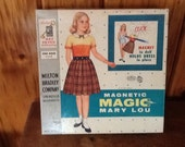 MIlton Bradley 1958 Magnetic Magic Mary Lou Doll in Box
