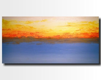 Large Abstract paintings - 24 X 48 -Art -by Artist JMJartstudio- -Wall art-wall decor -Swept Up- FREE US Shipping-Beach Painting