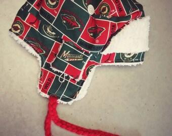 MN Wild Chenille Bomber Earflap Hat