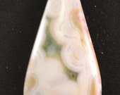 21mm x 48mm teardrop Madagascar obicular ocean jasper cabochon