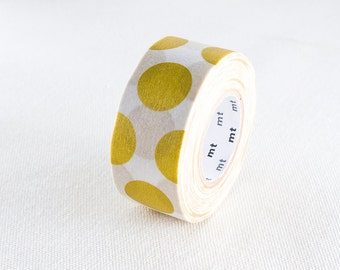 2016 New-mt for PACK Japanese Washi Masking Tape / Big Gold Polka Dots 25mm wide 15m long for Packaging, packing, decoration, art projects