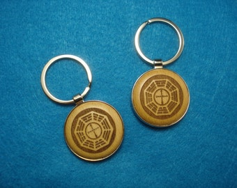 Dharma Symbol Wood Key Chain - Great Gift for Fans of the Lost TV Show!