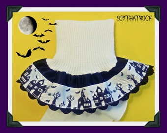 Haunted Mansion Halloween girls Socks, custom colors available, boutique couture girls ruffle socks - newborn to women's sizes available