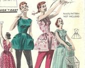Butterick 7960 / Vintage 50s Sewing Pattern / Back Wrap Dress / Size 16 Bust 36 / Unused