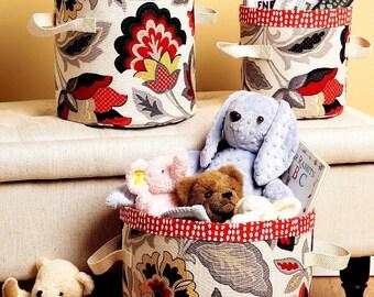 Cloth Storage Bins Pattern, Lined Storage Bins Pattern, Butterick Sewing Pattern 6362
