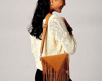 Fringed Purse Pattern, Ruffle Purse Pattern, Zippered Shoulder Bags Pattern, McCall's Sewing Pattern 7264