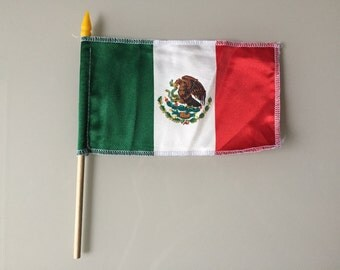 Mexico Mexican Flag with Pole