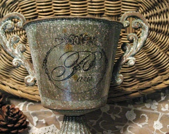 Trophy Cup - Trophy Urn - Farmhouse Decor - Paris Chic - French Loving Cup - French Inspired Urn