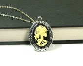 Lolita Skeleton Cameo Necklace Skull Necklace Clearance Sale