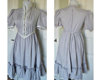 Vintage 70s  Gunne Sax dress  Juenes Fillies by Jessica -Hippie dress-boho dress-vintage dress-bridesmaid dress