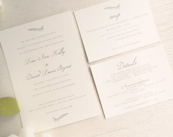 Wedding Invitation Suite - Style INV55 - Rustic Script COLLECTION | Invitation | RSVP Card | Details Card Printable