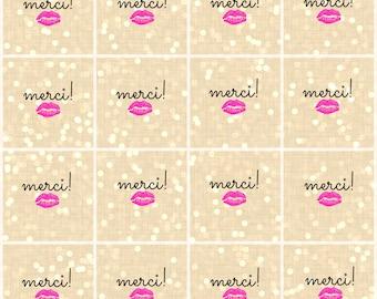 Merci! - Thank You Gift Tags
