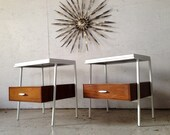 Vista of California Mid Century Modern Pair Nightstands Eames Nelson era 1960s nightstand pair bedroom furniture