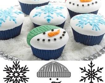 Winter Cupcake/Cookie Texture Tops