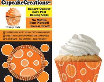 Orange Dots Cupcake Liner