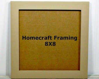 8X8 Picture Frame Primary Trail Tan Country Primitive Wooden