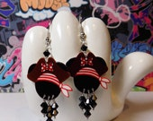 Minnie Mouse Pirate Dangle Earrings