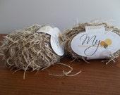 Yarn, Knitting Crochet Supplies, 2 Skeins  Muench Yarn Cream Tan Brown Variegated Bella Donna