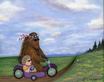 Bigfoot And Momma Smokin' The Road