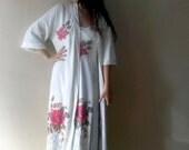 Vintage Vanity Fair beige sleepgown robe set,  wrap robe nightgown set,  Nightgown & Robesleepwear,