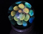 Rainbow Spots - Silver and Gold fumed implosion marble
