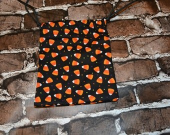Candy Corn Inspired Drawstring bag/ Goody Bag/ Party Favor/ Birthday Party/ RPG/ DND/ Dice Bag/ Accessory Bag/ Gift for Her/ Him/ Birthday