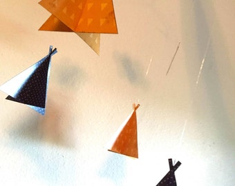 Teepee Baby Mobile (Customizable Papers)