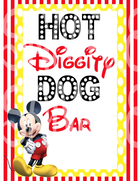 Lucrative image intended for hot diggity dog bar free printable