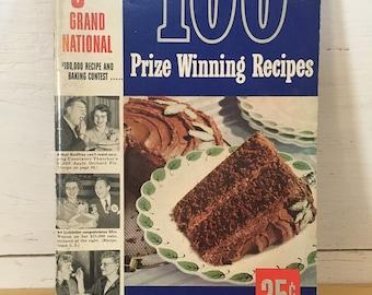 Pillsbury 3rd Grand National 100 Prize Winning Recipes - vintage cookbook, recipe book, cook book