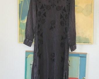 Vintage Deep Purple Bohemian Dress • Rayon Dress • Free Size