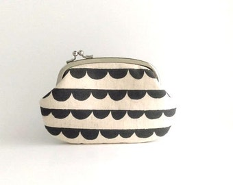 Ready to Ship ~ Frame Purse Wallet Side Lock Pouch - Half Round