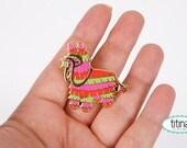 donkey piñata enamel pin