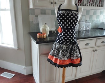 Pumpkin Spice ~ Fall/Thanksgiving Women's Apron 4RetroSisters