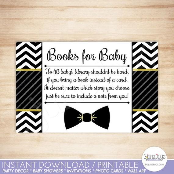 Bow tie baby shower book request cards bowtie little man baby boy il570xn filmwisefo
