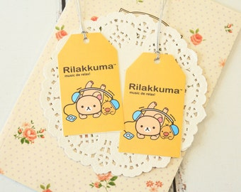MUSIC Yellow Cute Cartoon Rilakkuma & Friends Gift Tags