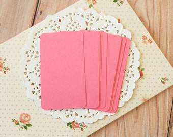 Cerise Pink 50pc handmade blank Business Cards