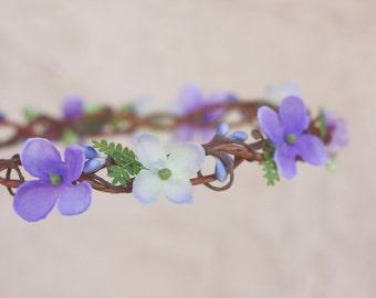 lilac hydrangea flower crown
