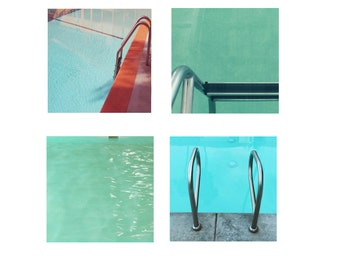 Swimming Pool Set Four Mid Century Modern Swimmng Pool Photos