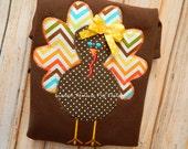 Girl Turkey Shirt Girly Turkey Adorable Chevron Ruffle Pants Made to Match Additional