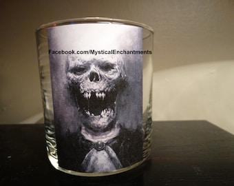 Halloween Skull votive-tea light candle holder