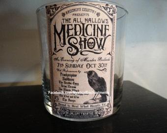 Halloween Raven Medicine Show votive-tea light candle holder